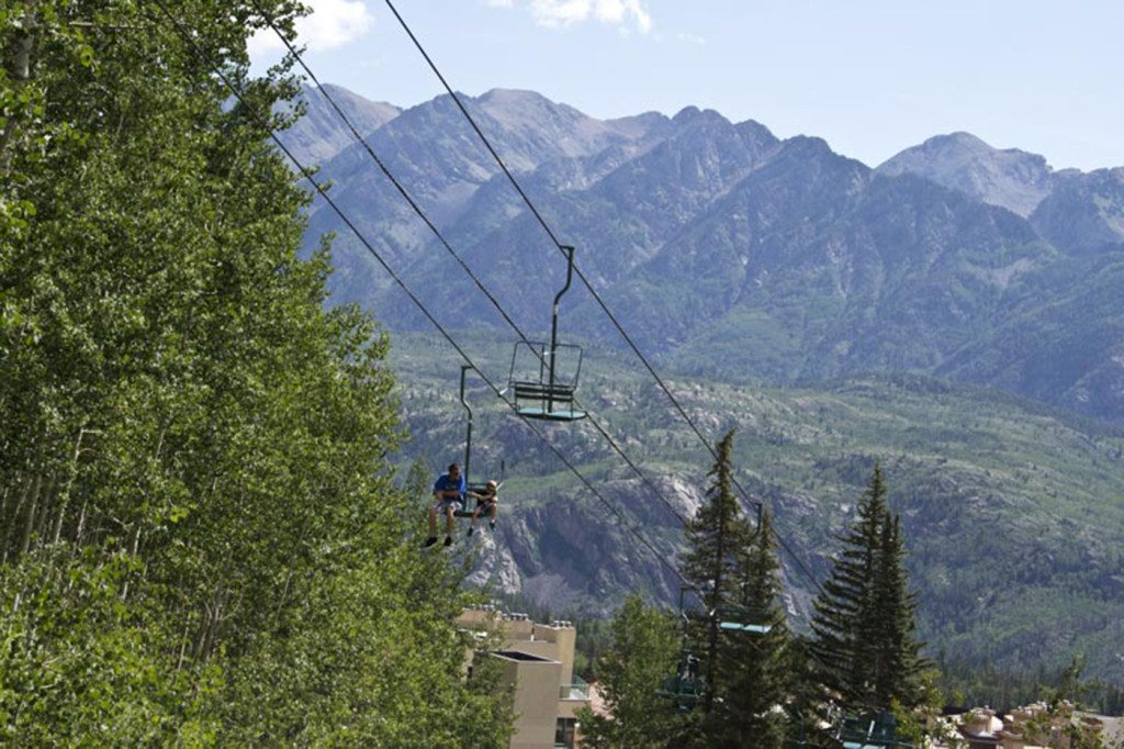 summer scenic chairlift ride