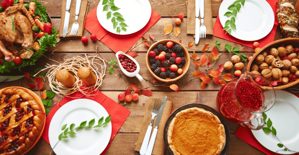 holiday food on a table