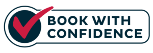 book with confidence lodging guarantee seal