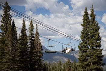 Chairlift ride to Paradise.